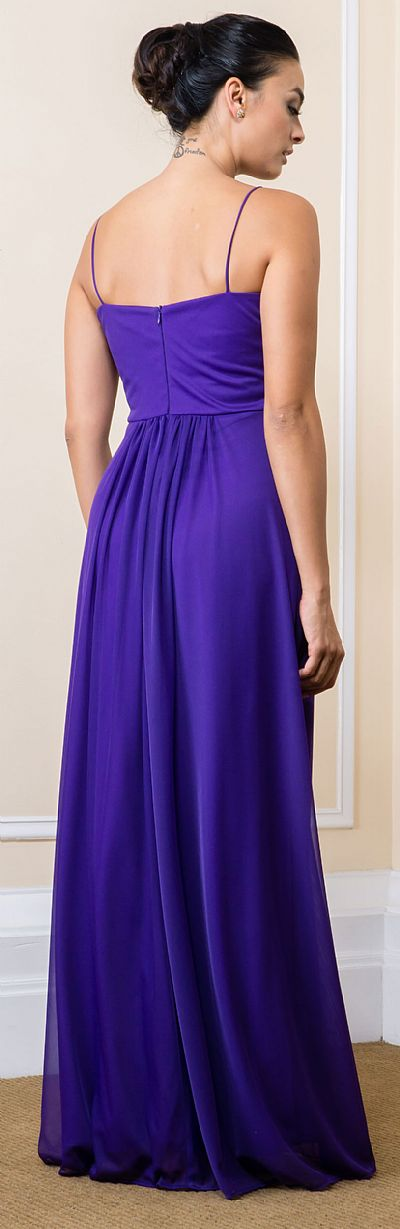 Wrap Style Ruched Long Formal Evening Bridesmaid Dress 11559