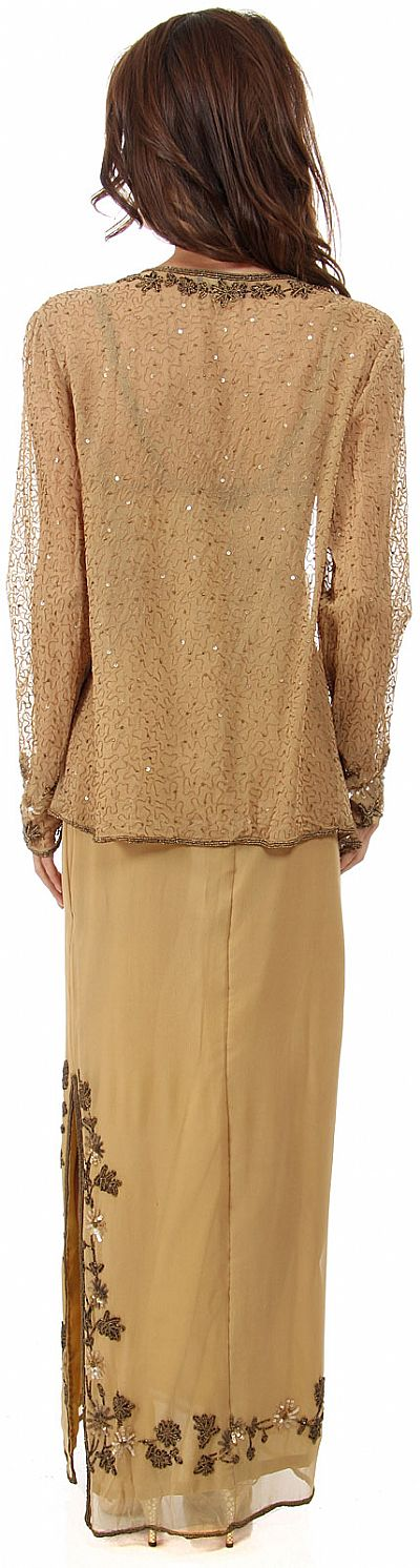 Long Gold Sequin Dress