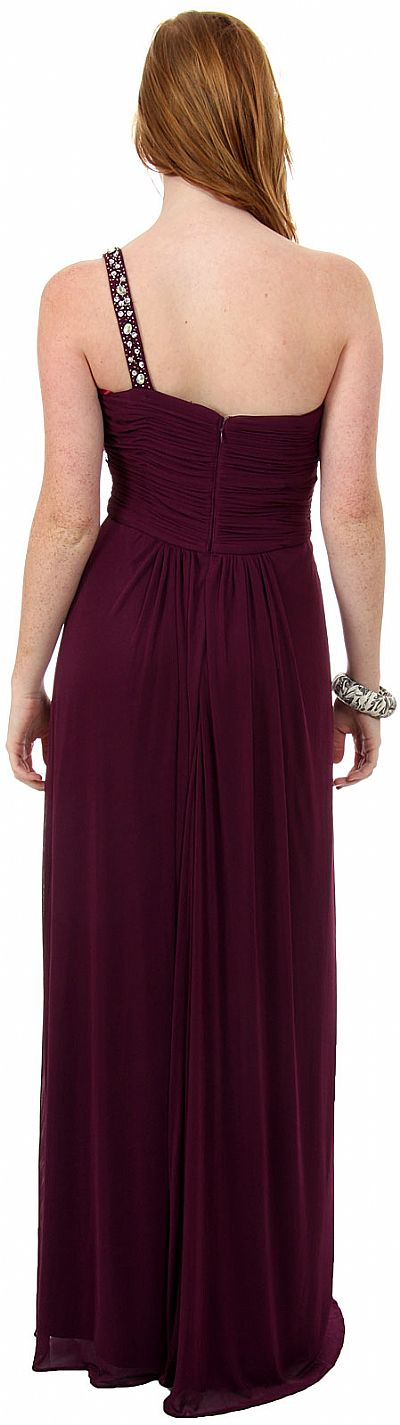 Greco Roman Formal Prom Dress With Bead Accents P8324