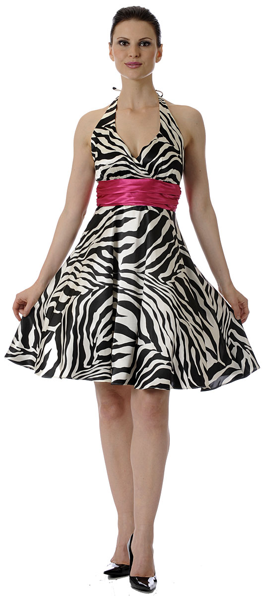 Zebra Party Dresses 96