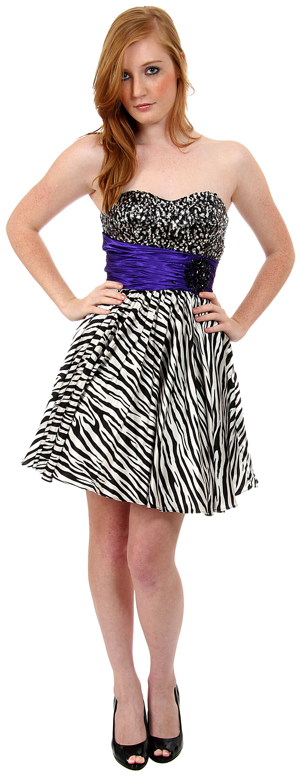Zebra Grad Dresses 45