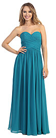 Wholesale Prom Dress item 45486. Strapless Ruched Bodice Long Formal Evening Dress. Strapless Overlap Ruched Bodice Long Formal Evening Dress. Sweetheart neckline at the ruched overlap style bodice. Skirt is gathered around the waist to give a free flowing look. Back zipper closure at the ruched back. Imported.