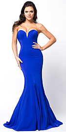 Wholesale Prom Dress item a367. Classic Strapless Mermaid Cut Fit-N-Flare Long Prom Dress.