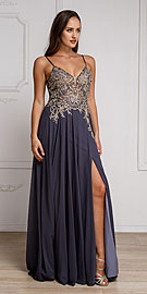 Wholesale Prom Dress item a578. Beaded Embellished Spaghetti Prom Dress.