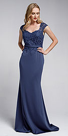 Wholesale Prom Dress item a783. Sweatheart Neckline Embroidered Evening Gown.