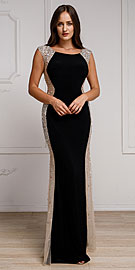 Wholesale Prom Dress item a785. Silhouette Styles Prom Gown with Rhinestone Accents.