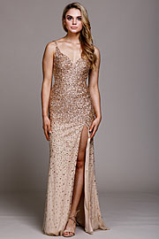 Wholesale Prom Dress item a793. Sweetheart Neckline Sequin Prom Gown.