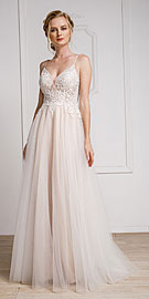 Wholesale Prom Dress item a921. Spaghetti Lace Embroidered Formal Prom Dress.